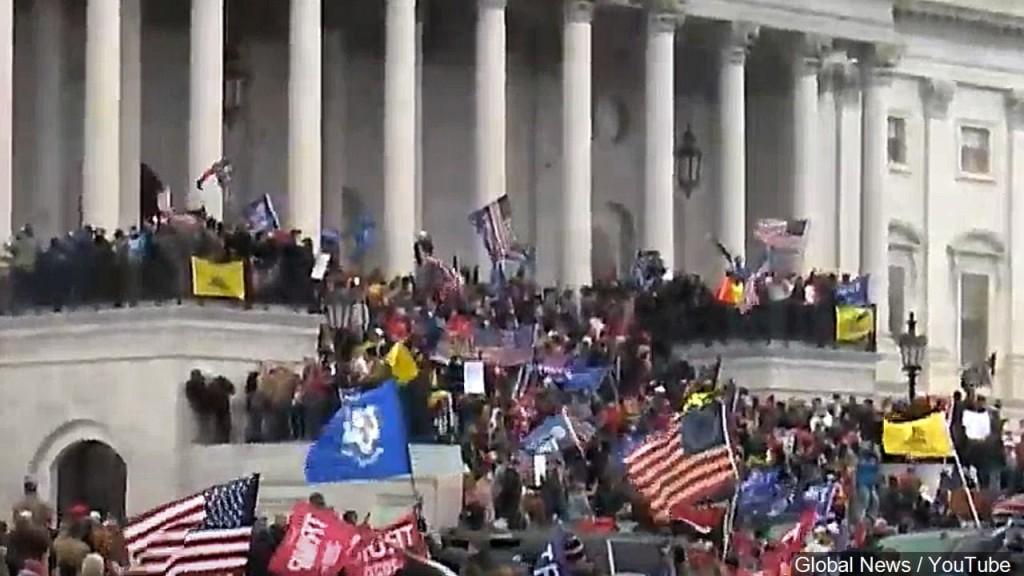Pro-Trump Protestors outside US Capital