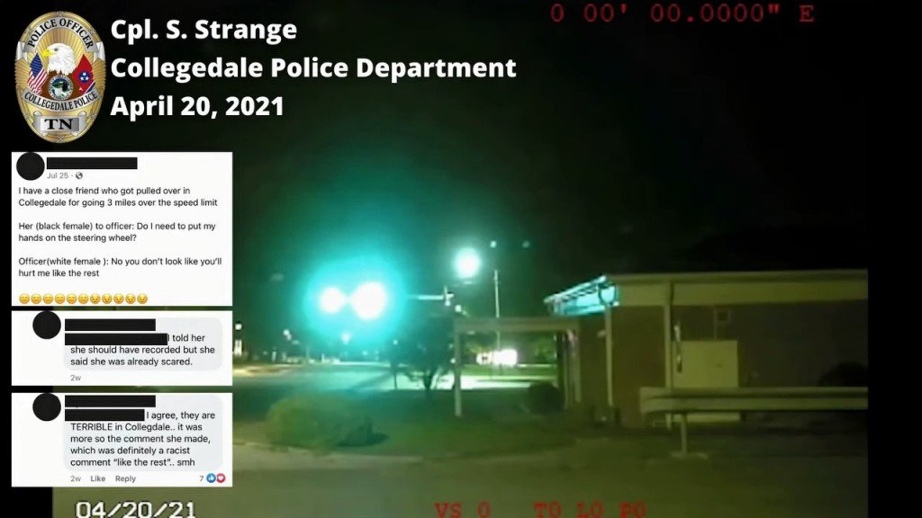Collegedale police department youtube footage