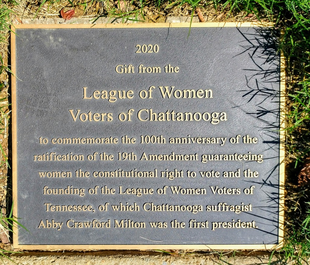 Lwv Chattanooga Park Plaque