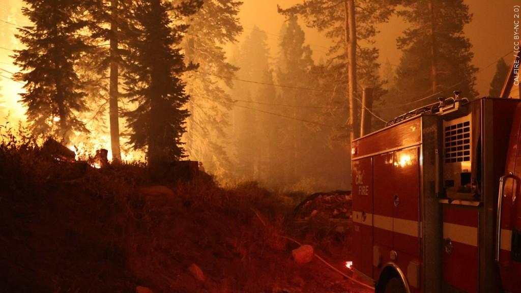 Caldor Fire in California, Photo Date: 8/29/2021