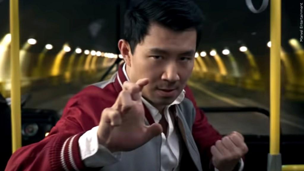 "Simu Liu in the 2021 Walt Disney Studios movie ""Shang-Chi and the Legend of the Ten Rings"""