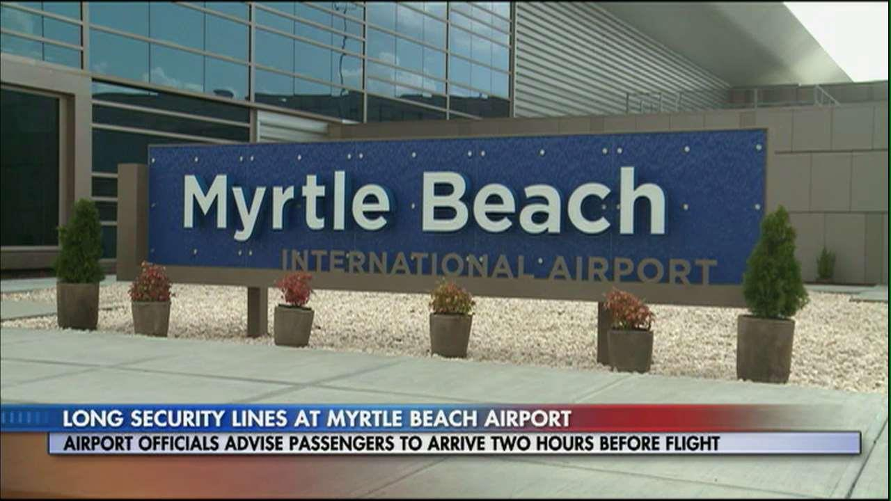 Long Security Lines Slowing Access At Myrtle Beach Airport