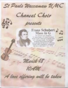Schubert's Mass in G Concert @ Saint Pauls Waccamaw UMC | Pawleys Island | South Carolina | United States
