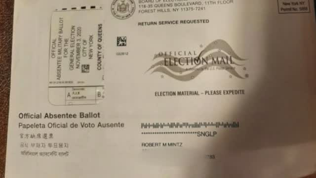Ny: Voter Gets Absentee Ballot W/ Wrong Info