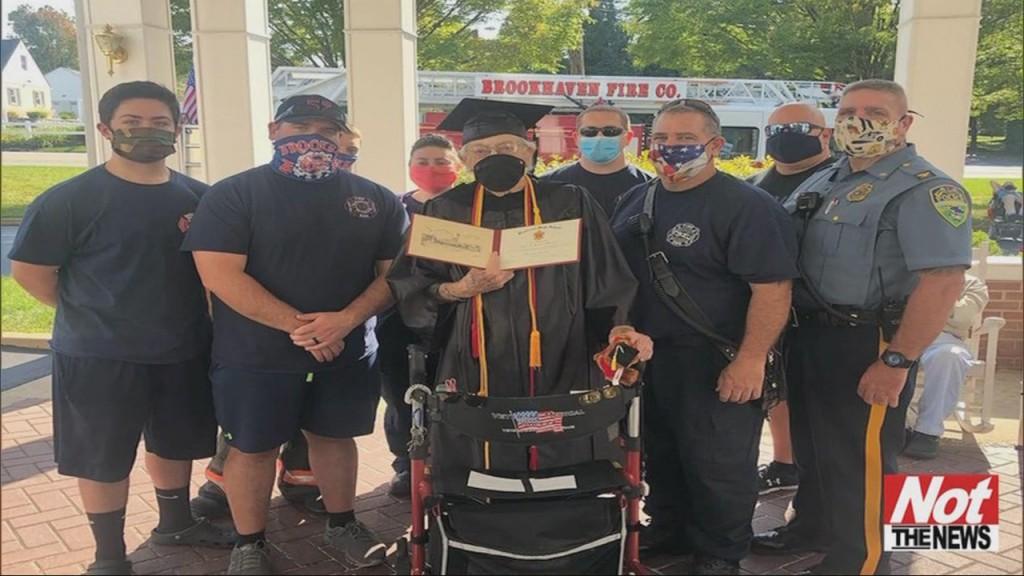 Man Gets Diploma