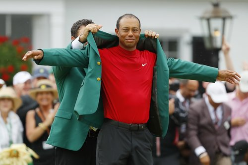 ratings for tiger woods u0026 39  big masters win hurt by an early