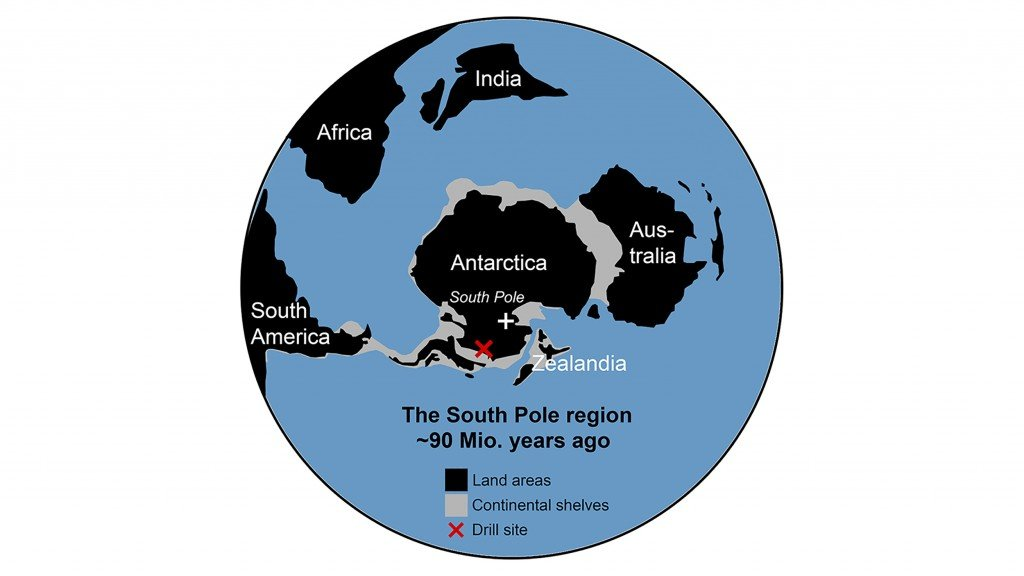 Map Of The Drill Site And How To Continents Were Arranged 90 Million Years Ago.