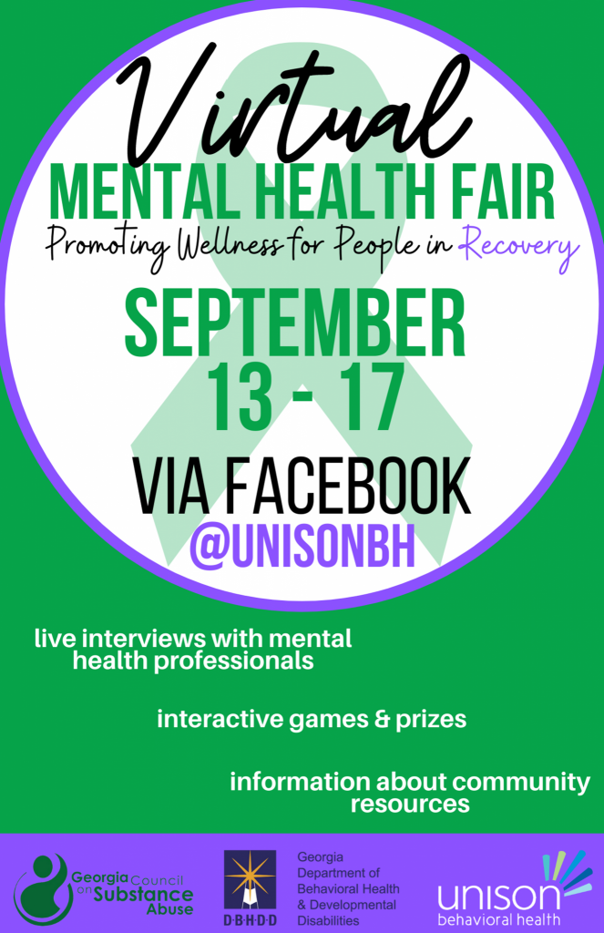 Unison Behavioral Health Sponsors Virtual Mental Health Fair