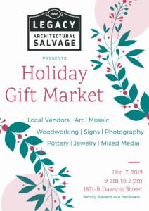 Holiday Gift Market at Legacy Architectural Salvage @ Legacy Architectural Salvage | Wilmington | North Carolina | United States