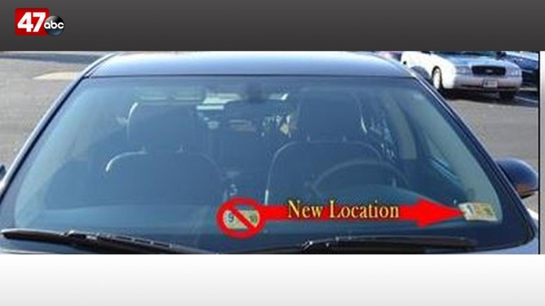 Change for 2019 vehicle inspection sticker placement set for