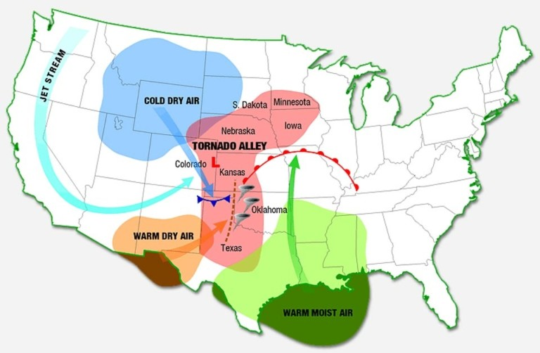 Why Does The Us Have So Many Tornadoes 47abc - Map-of-tornadoes-in-the-us
