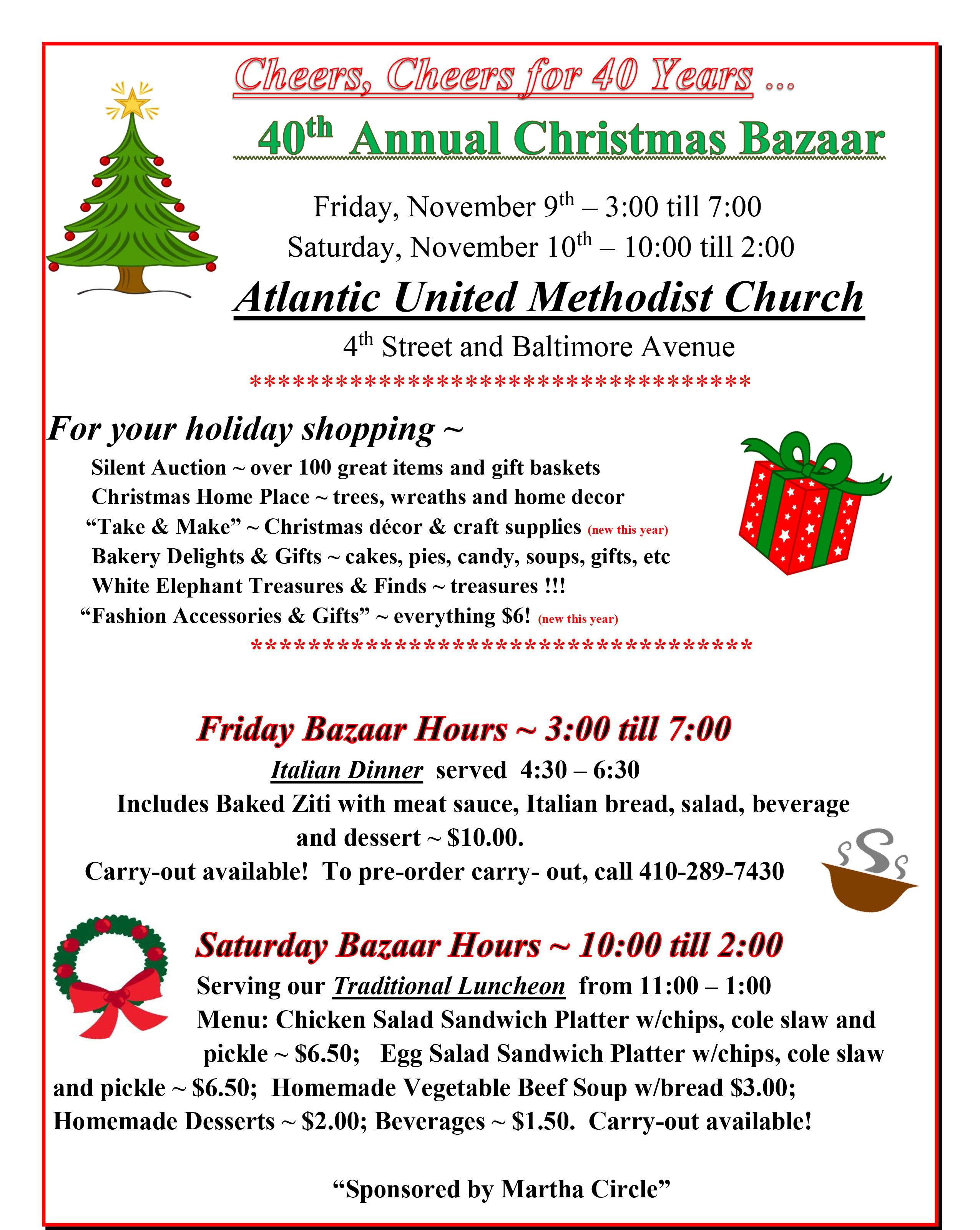 Atlantic United Methodist Church 40th Annual Christmas Bazaar - 47abc