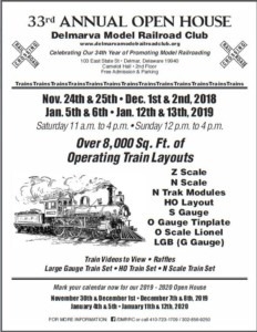 Delmarva Model Railroad Club 33rd Annual Holiday Open House @ Delmarva Model Railroad Club | Delmar | Maryland | United States