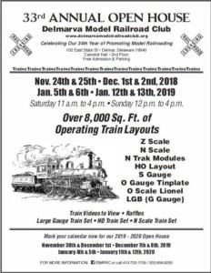 Delmarva Model Railroad Club 33rd Annual Holiday Open House @ Delmarva Model Railroad Club | Delmar | Maryland | United States