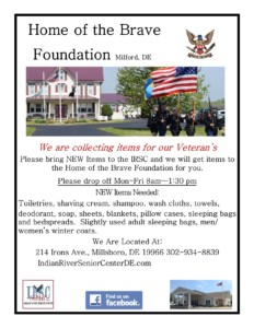 Home Of The Brave Drop Off @ Indian River Senior Center | Millsboro | Delaware | United States
