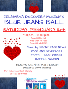 Delmarva Discovery Museum Blue Jeans Ball @ Snow Hill Fire Hall | Snow Hill | Maryland | United States