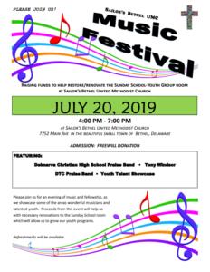 Sailor's Bethel UMC Music Festival @ Sailor's Bethel United Methodist Church | Bethel | Delaware | United States