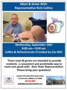 Meet & Greet with Representative Rich Collins @ Indian River Senior Center