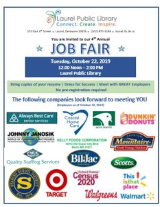 Laurel Public Library 4th Annual Job Fair @ Laurel Public Library