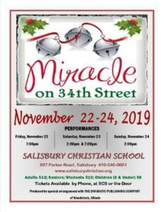Miracle on 34th Street @ Salisbury Christian School