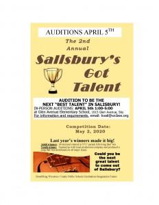 Salisbury's Got Talent Auditions @ Glen Avenue Elementary School Cafeteria