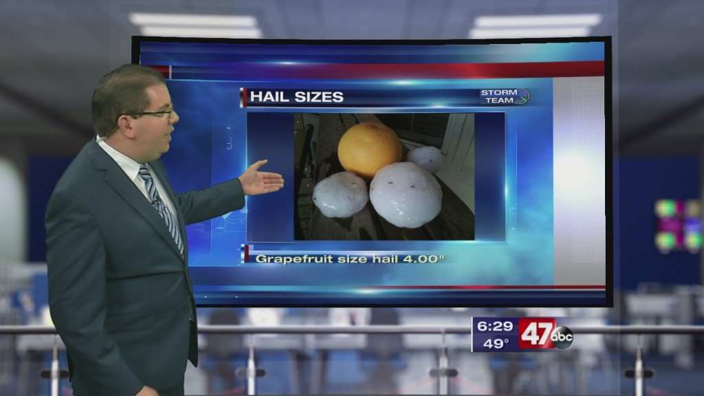 Weather Tidbits: Hail Sizes 4.14.20