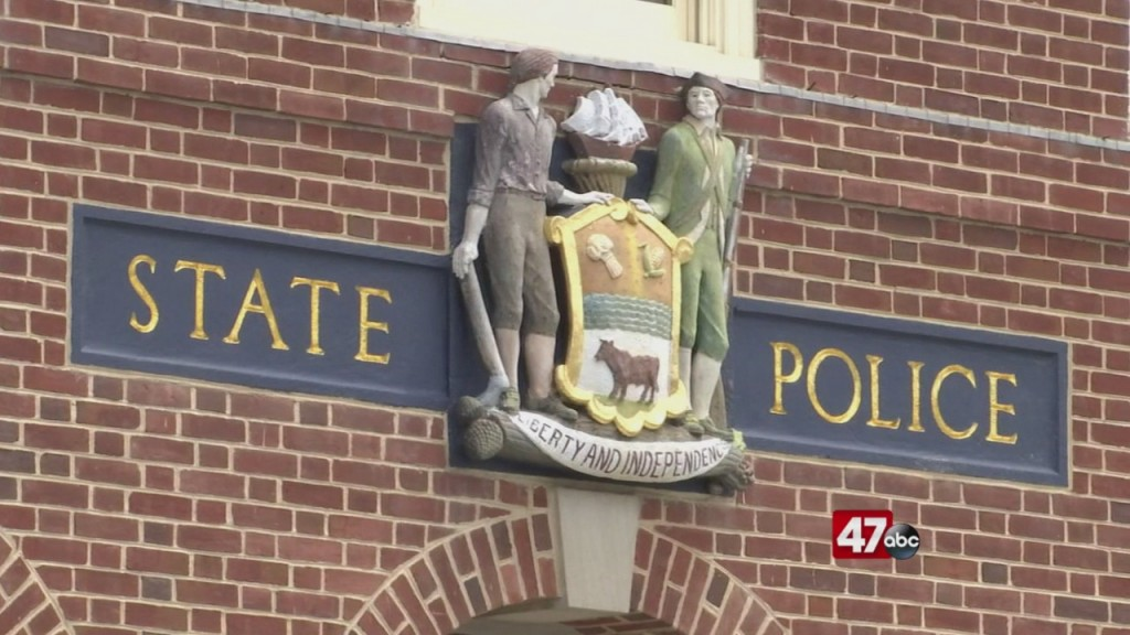 State Police Memorial Vandilized
