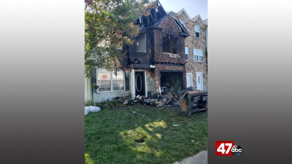 1280 Cambridge Townhome Fire