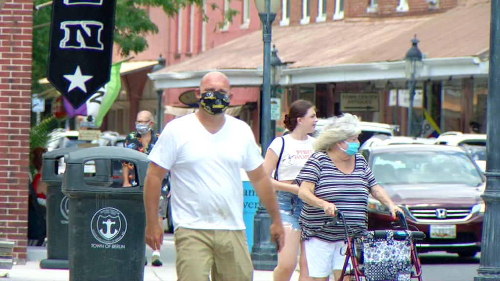 Downtown Berlin Face Masks