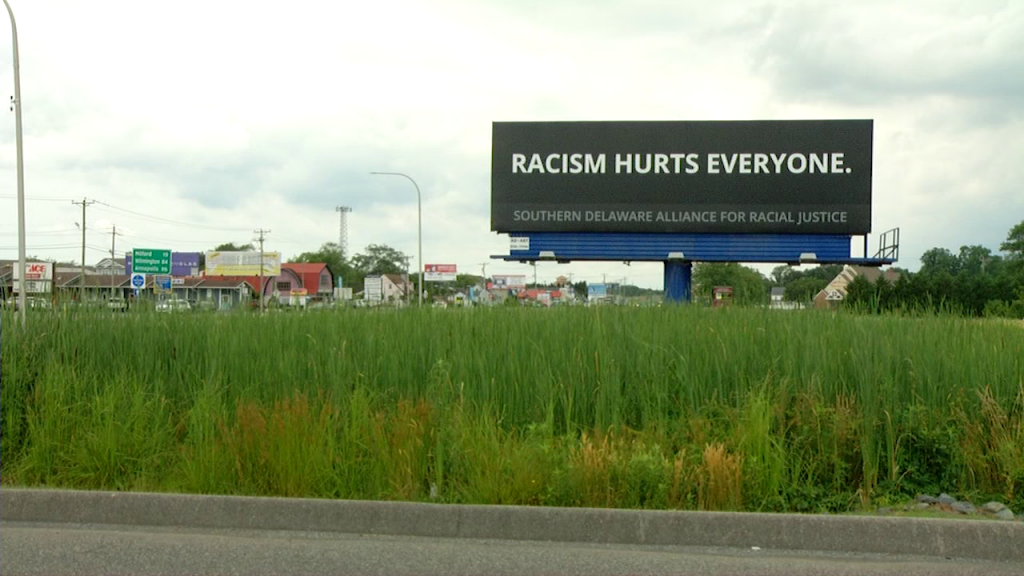 Racism Hurts Everyone Billboard