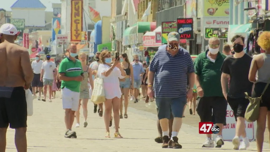 Crowds Pack Ocean City Boardwalk Over Labor Day Weekend