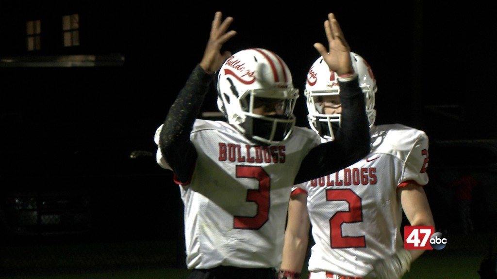 Laurel's Javy White Celebrates Touchdown In Bulldogs' 28 0 Win