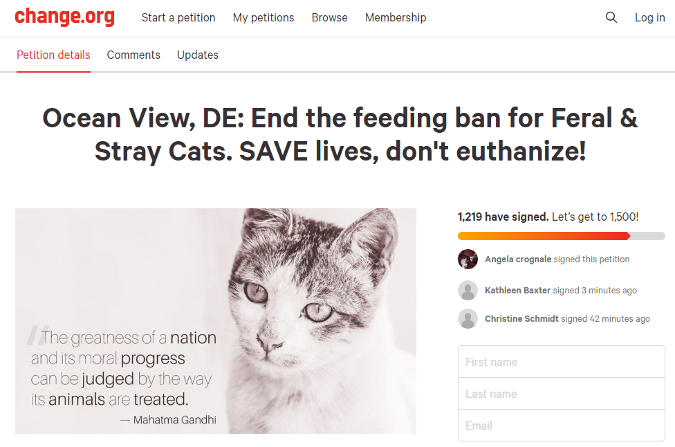 Cat Petition