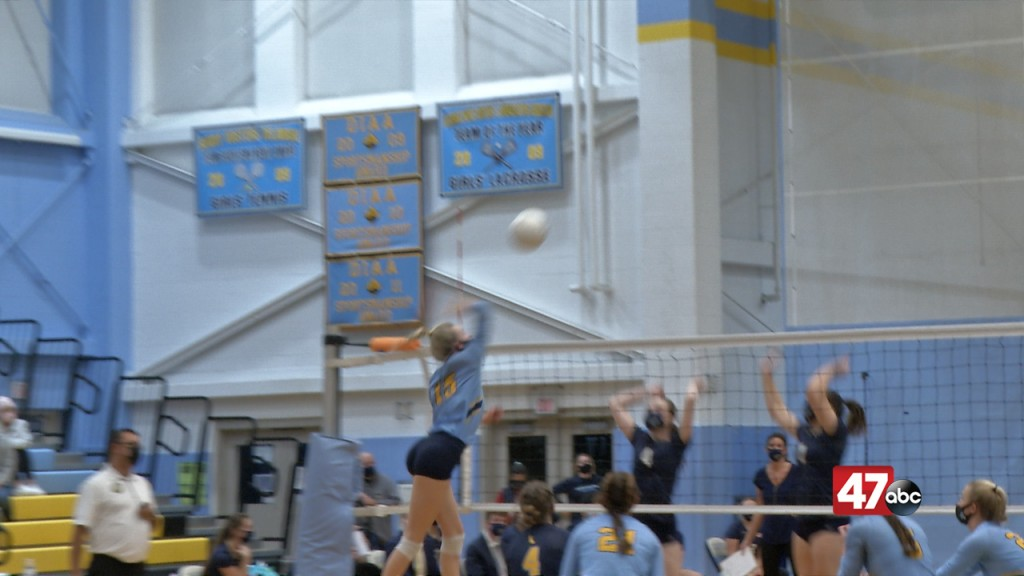 Rileigh Wilson Sets Up For A Spike In Cape Henlopen's Quarterfinal Match With Dma