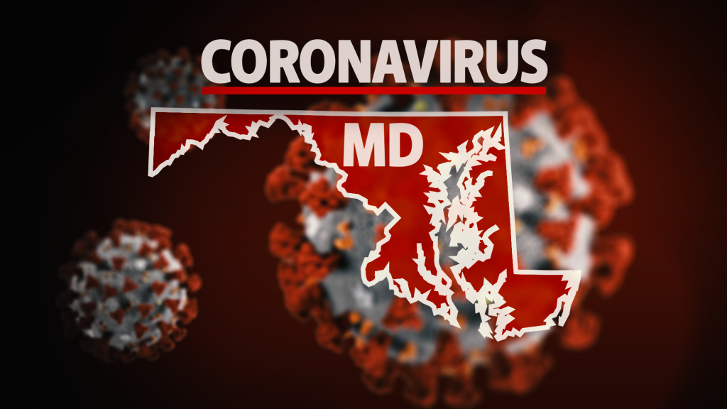 Maryland State Map Coronavirus