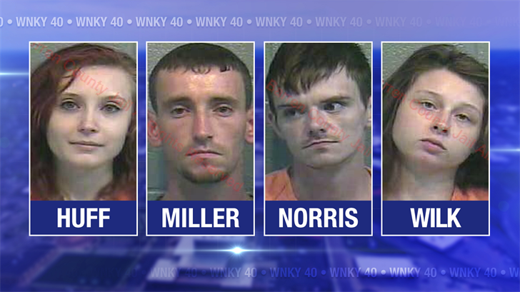4 arrested after driver is accused of fleeing from police