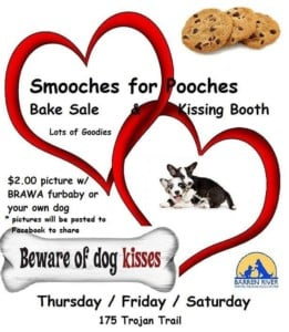 Smooches for Pooches @ Barren River Animal Welfare Association | Glasgow | Kentucky | United States