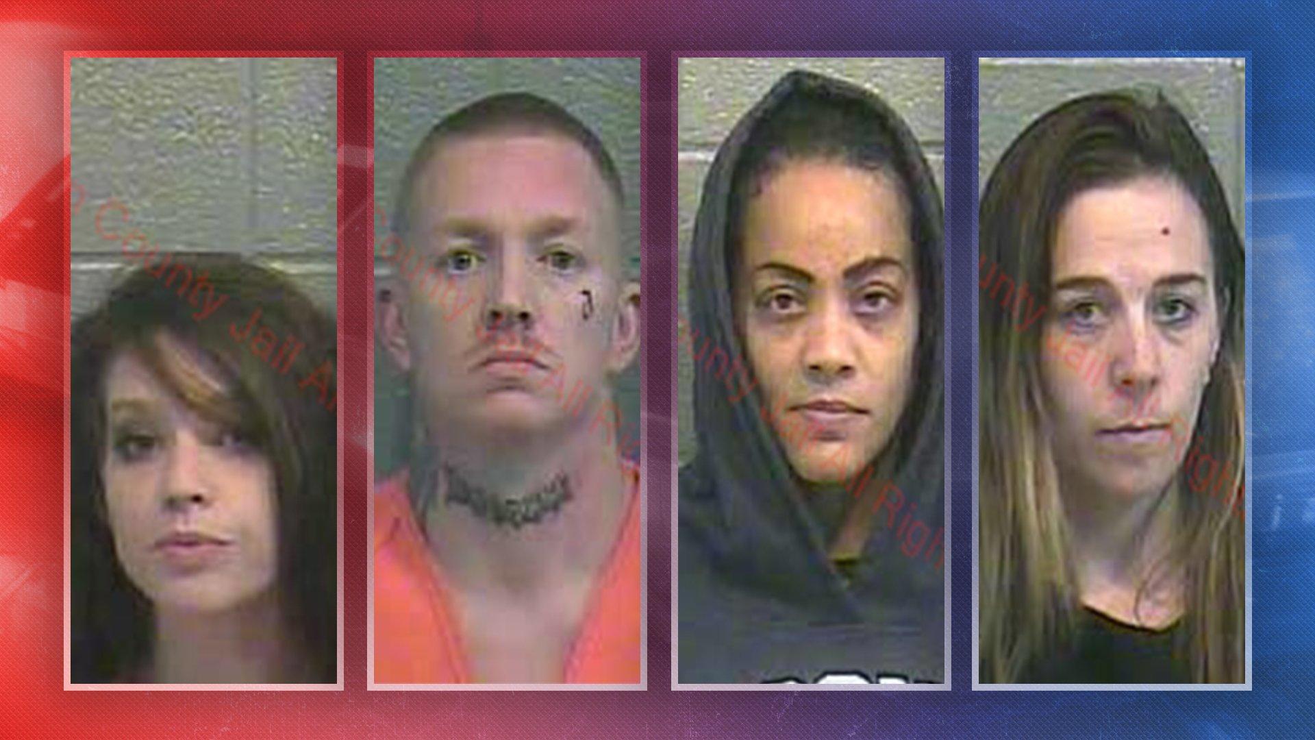four glasgow residents arrested at residence on drug