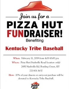 Kentucky Tribe Baseball Pizza Night @ Pizza Hunt | Bowling Green | Kentucky | United States