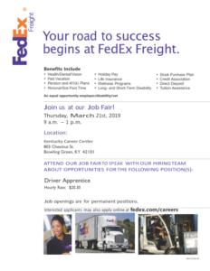 FedEx Recruitment Event @ Kentucky Career Center | Bowling Green | Kentucky | United States