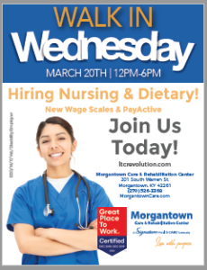 Job Fair @ Morgantown Care and Rehab | Morgantown | Kentucky | United States