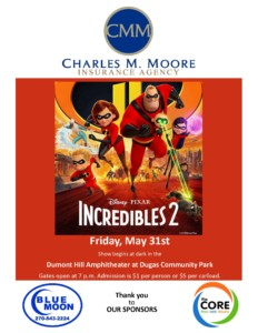 The Incredibles 2 Movie Night @ Dumont Hill Amphitheater at Dugas Park | Scottsville | Kentucky | United States