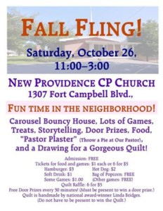 Fall Fling @ New Providence Cumberland Presbyterian Church |  |  |