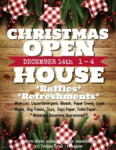 BRAWA Christmas Open House @ Barren River Animal Welfare Association