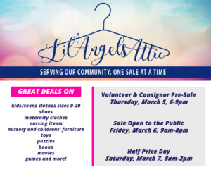 Lil' Angels Attic Spring Children's Consignment Sale @ Broadway United Methodist Church |  |  |