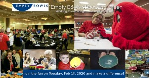 8th Annual Empty Bowls Event! @ Sloan Convention Center |  |  |