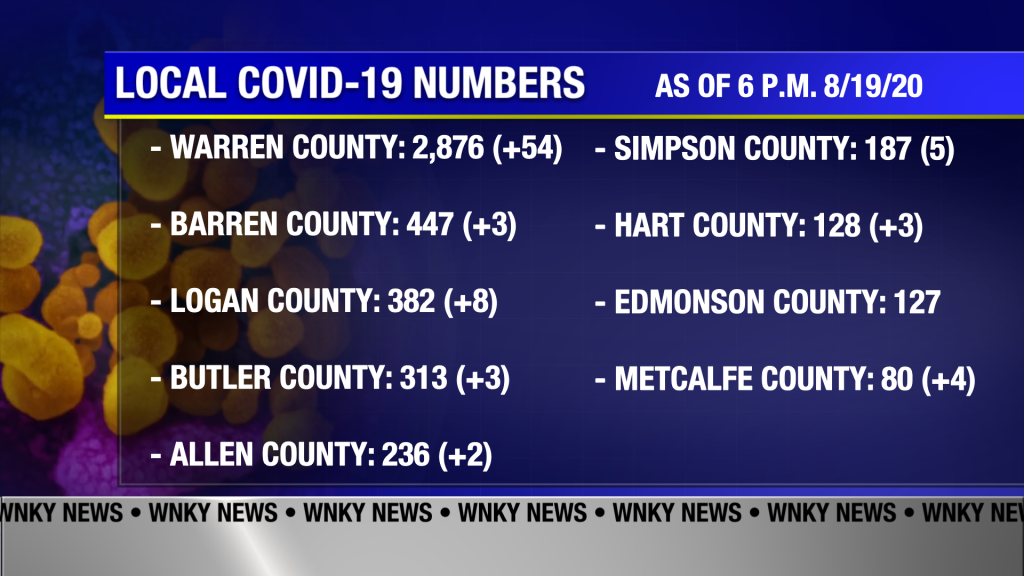 Local Covid Numbers 8 20