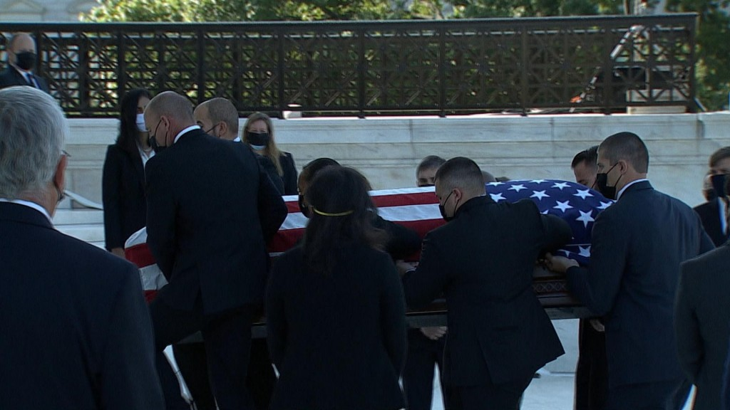 Mourners Pay Respects To Justice Ruth Bader Ginsburg