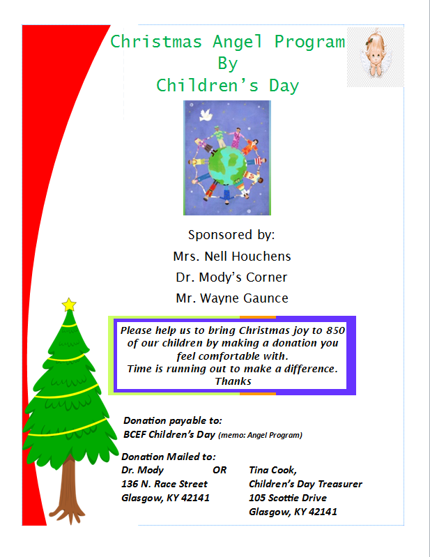 Angel Tree Glasgow For Presents And Christmas Dinner 2020 Children's Day accepting donations for Christmas Angel Program