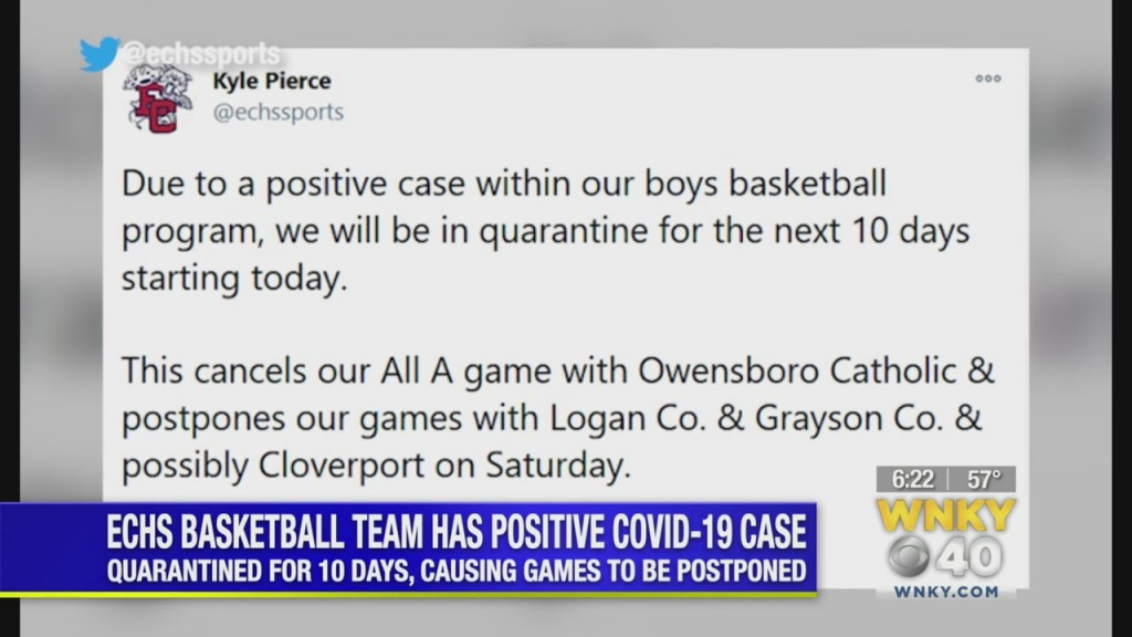Edmonson County High School Basketball Program Has Positive Covid 19 Case